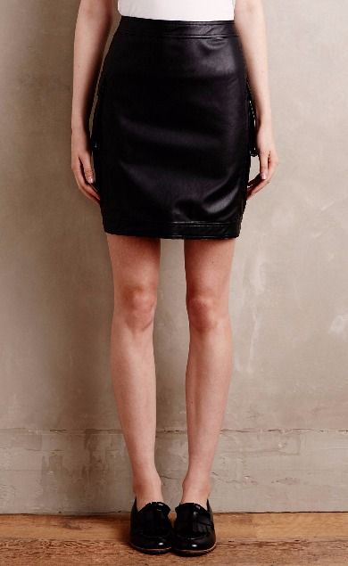 Downtown Vegan Leather Mini Skirt