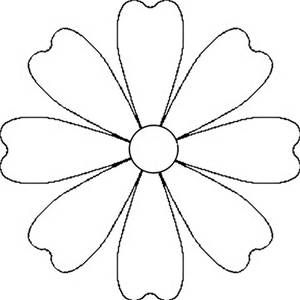Flower Cut Out Template Bing Images