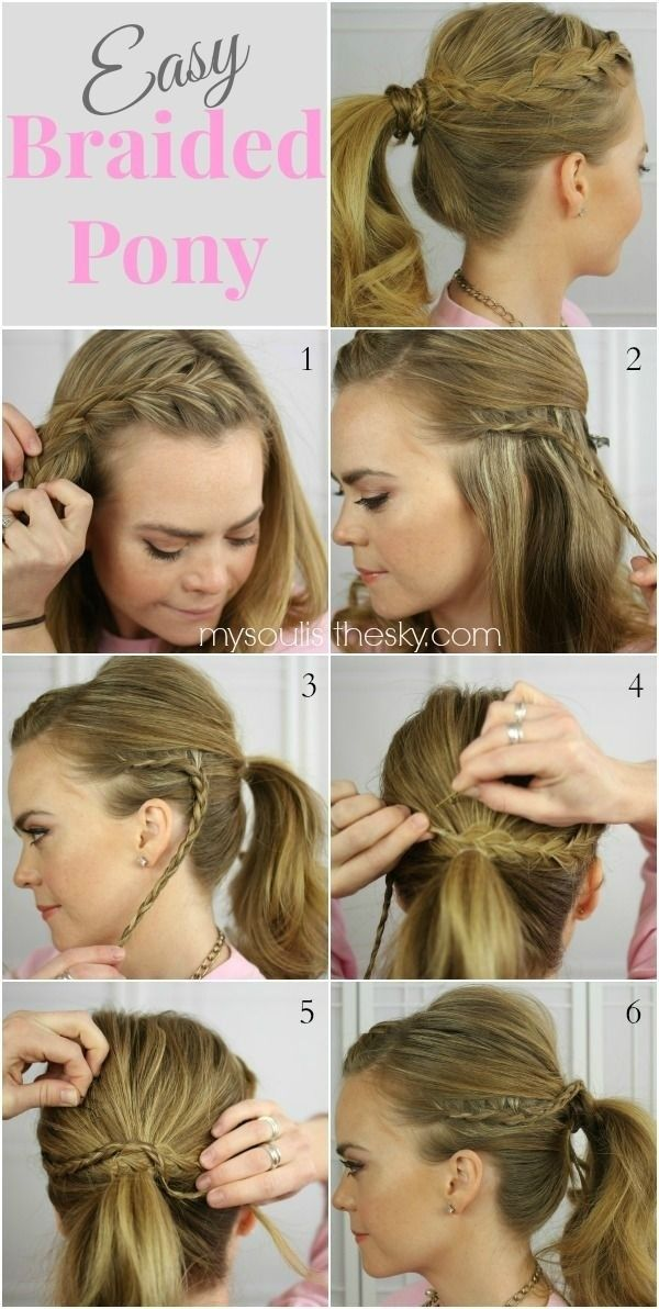 15 Cute And Easy Ponytail Hairstyles Tutorials Popular Haircuts Ponytail Hairstyles Easy Ponytail Hairstyles Tutorial Braided Ponytail Hairstyles