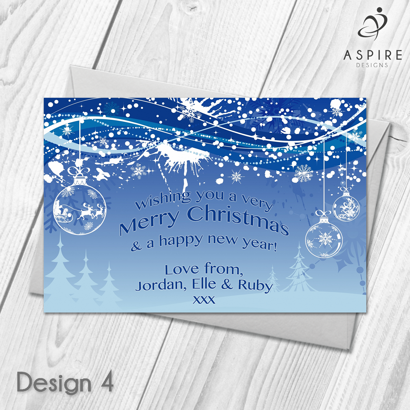 Personalised Snowflake Merry Christmas Cards Xmas Postcards ...