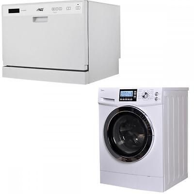 Washing Machines 71256 Midea Dishwasher And 2 In 1 2 0 Cu Ft Combination Washer Dryer Combo Ventles Dryers For Sale Combination Washer Dryer Washing Machine