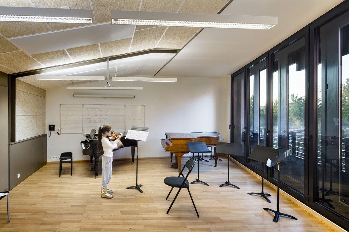 Gallery of Music Conservatory in Paris 17th Arrondissement Basalt