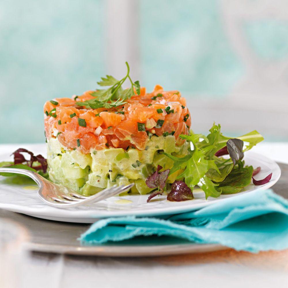 lachstatar rezepte f r dessertringe pinterest lachs salat und vorspeise. Black Bedroom Furniture Sets. Home Design Ideas