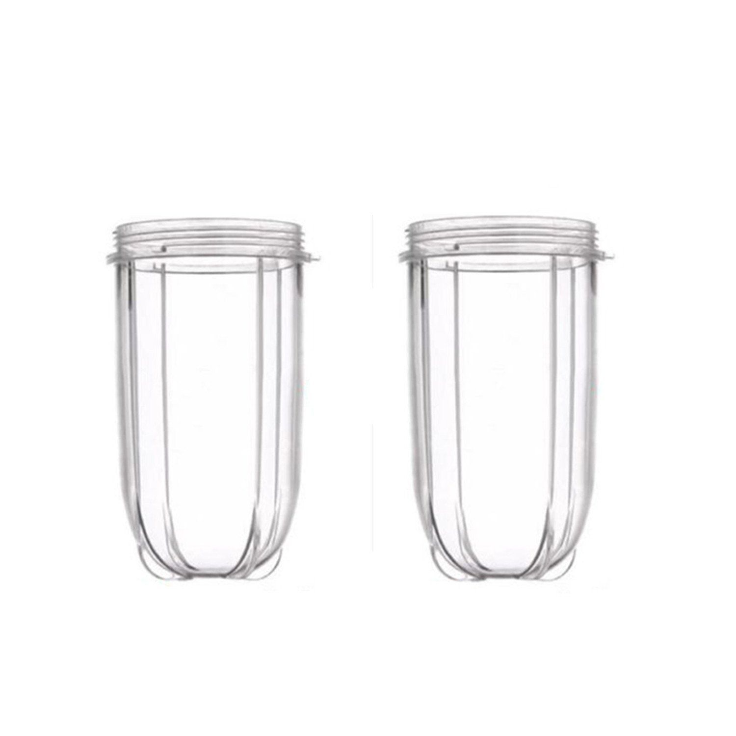 Blendin 2 Pack Replacement 16oz Tall Jar Cups,Fits