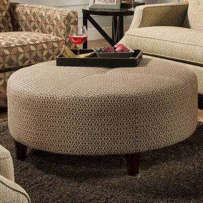 Anniston Round Cocktail Ottoman Http Delanico Com Ottomans