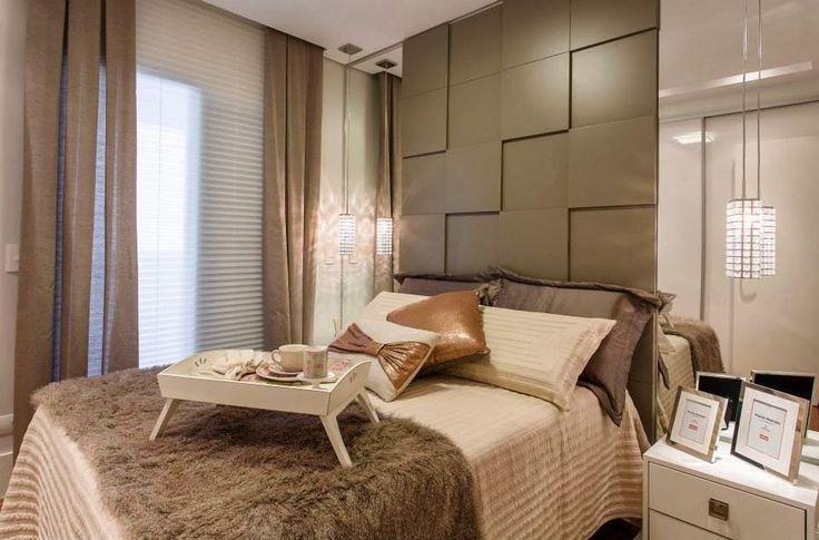 95 quartos de casal pequenos e simples decorados for Departamentos pequenos modernos decorados