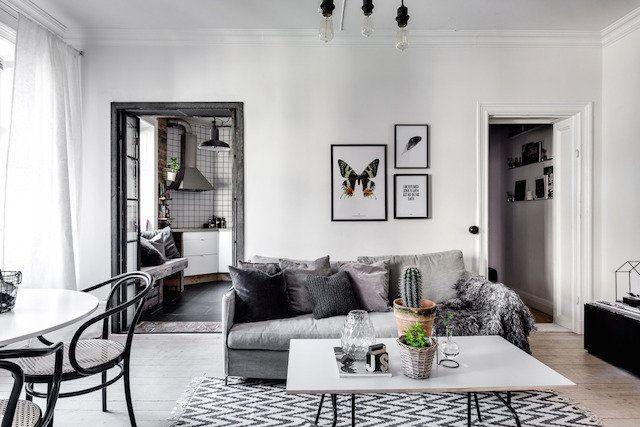 Blog over een zwart-wit Scandinavisch interieur. Laat je inspireren ...