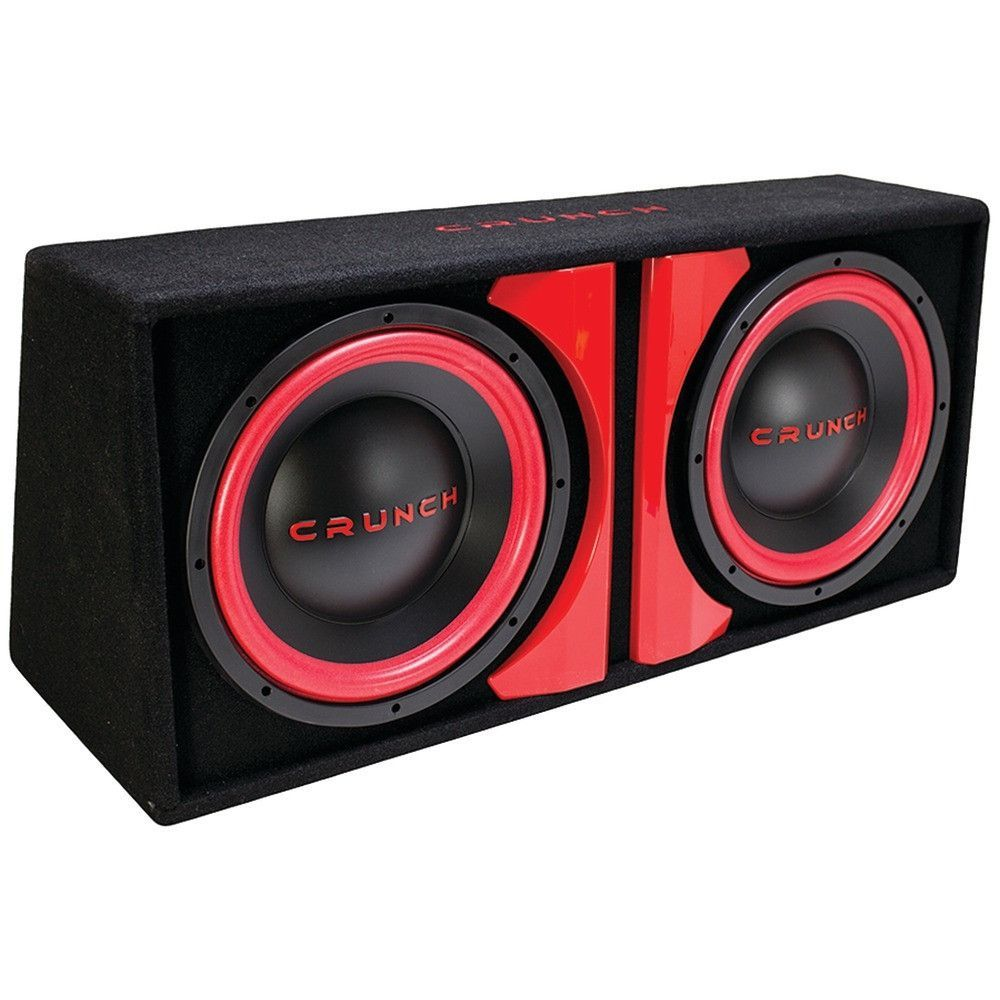 hight resolution of crunch cr212a cr 212a powered dual 12 subwoofer system