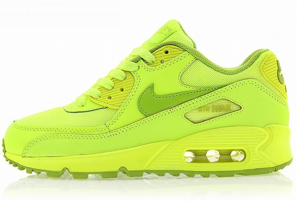 online retailer a4035 fae8f NIKE GIRLS AIR MAX 90 GS Neon Green running sneakers womens youth new in  Clothing, Shoes, Accessories, Women s Shoes, Athletic   eBay