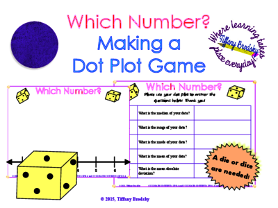 Dot Plot Graphing and Worksheet Activity (or Game) from Tiffany ...