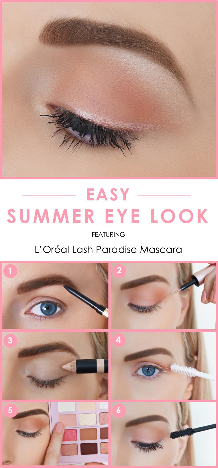 f758a0790ba Easy summer eye look featuring L'Oreal Brow Definer, Brow Raiser, new  Paradise Enchanted eye shadow palette, Lash Paradise rose gold liquid  liner, ...