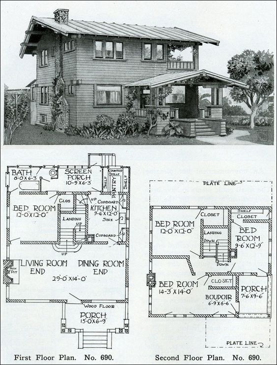 Two Story 1910 Simple Swiss Chalet Henry Wilson The Bungalow Book Sims House Plans House Plans Two Story House Design