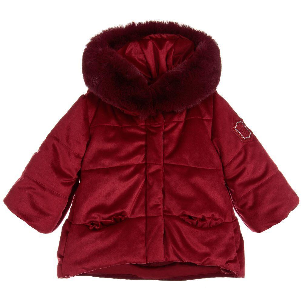 d2e96cda8 Girls Red Velvet Coat