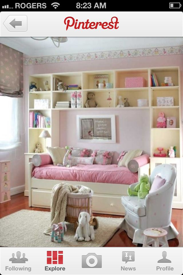Girls room Home Pinterest Girl rooms, Spaces and Beds