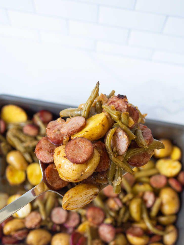Cajun Sausage Potato Casserole