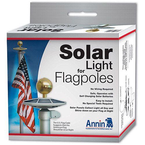 Annin Flagmakers Solar Light Flagpole Illumination Solar Powered Re Chargeable Light 2472 Walmart Com Flag Pole Landscaping Flag Pole Solar Lights