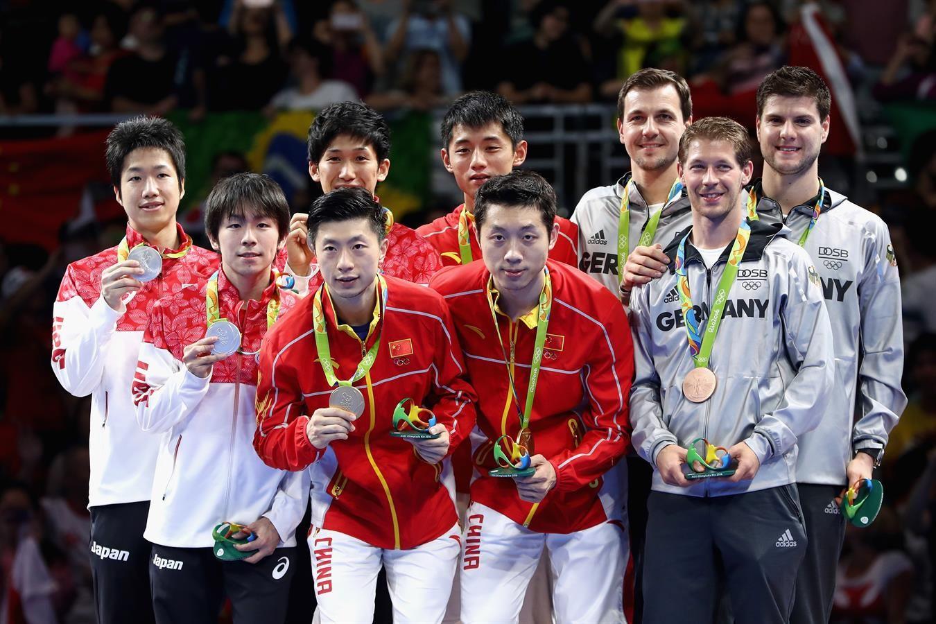 Medal Mizutani Jun Yoshimura Maharu Niwa Koki Ma Long Xu Xin Zhang Jike Boll Timo Ovtcharov Dimitri Table Tennis Olympic Table Tennis Olympics