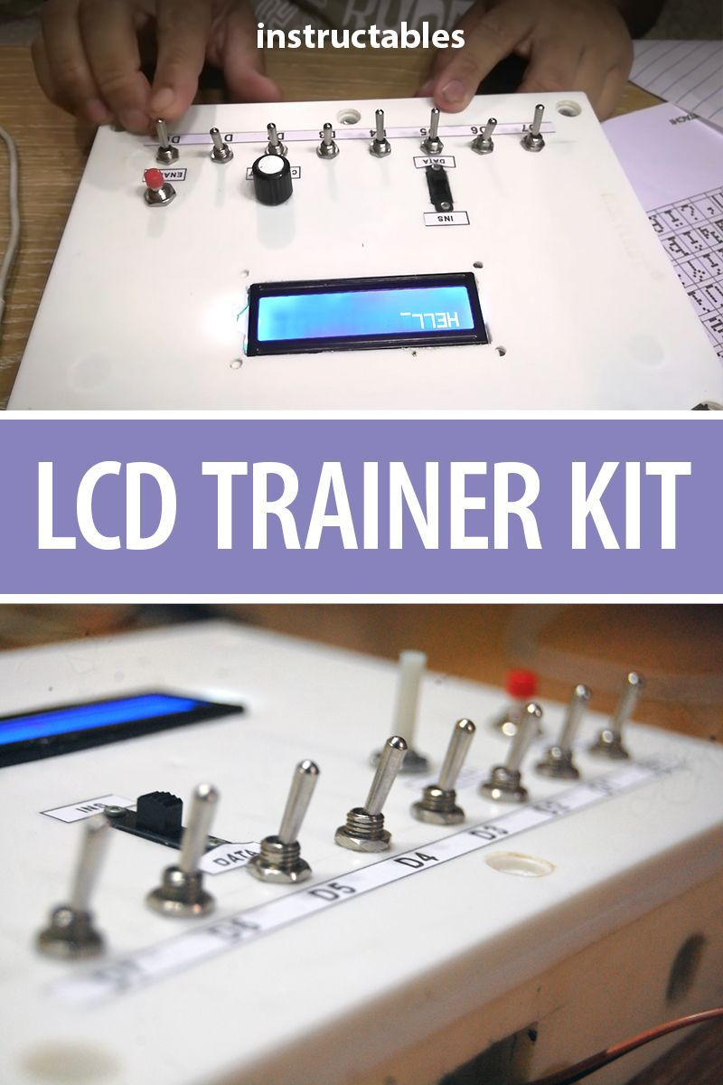 Lcd Trainer Kit Electronics Projects Pinterest Cool Arduino And Microcontrollers Learn About Running An Display Without Using A Microcontroller This Beginner