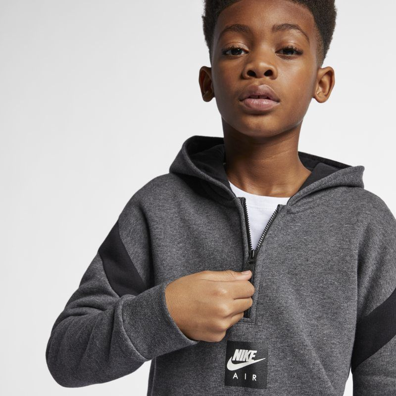 601ea66a239d Nike Air Older Kids (Boys ) Half-Zip Hoodie - Grey