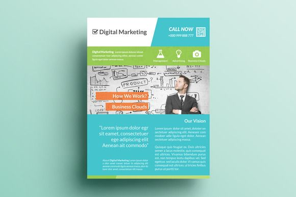 creative marketing flyer v5 by khidd on creative market khidd