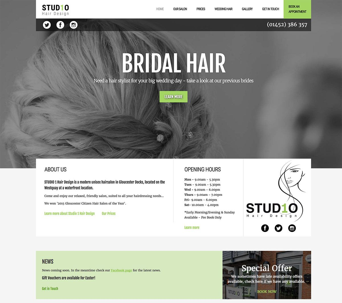 Pin By Emwonline Web Design On Business Websites Created By Us In 2020 Big Wedding Hair Designs Small Business Website