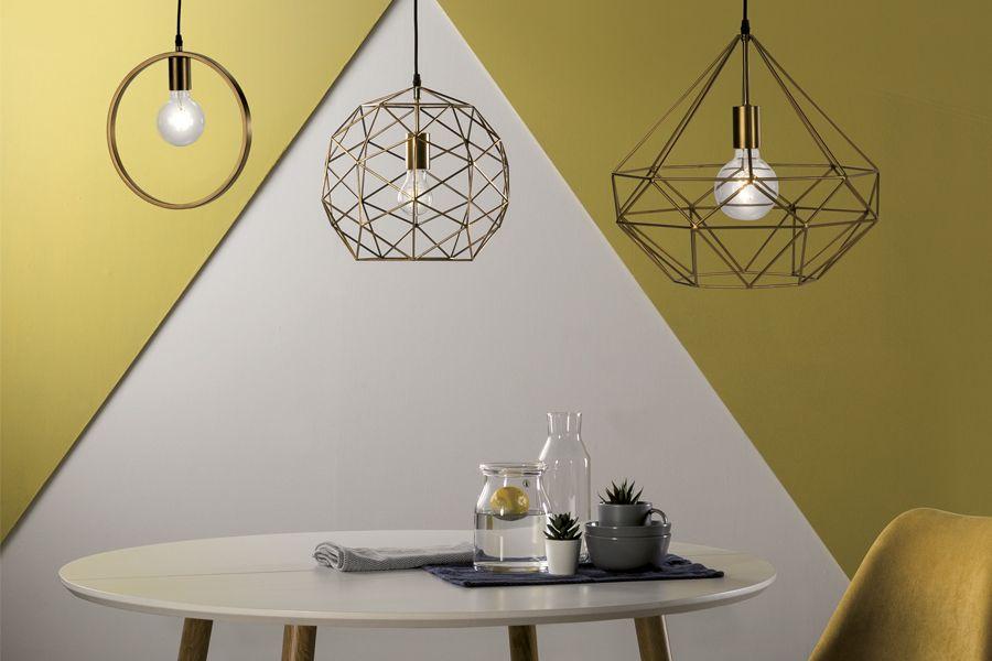 lámparas de techo que aportan calidez