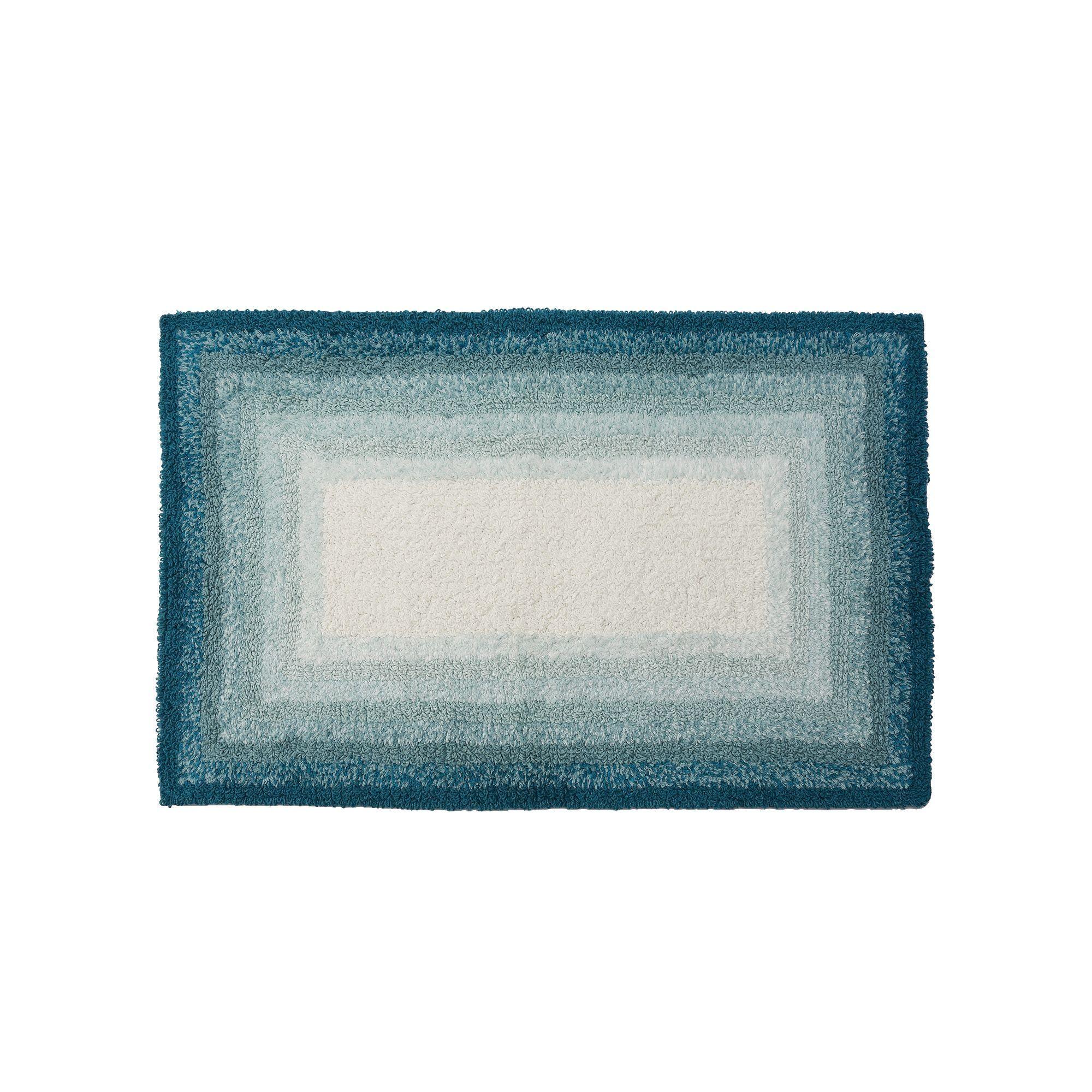 SONOMA Goods for Life™ Ombre Border Reversible Bath Rug, Turquoise/Blue (Turq/Aqua)