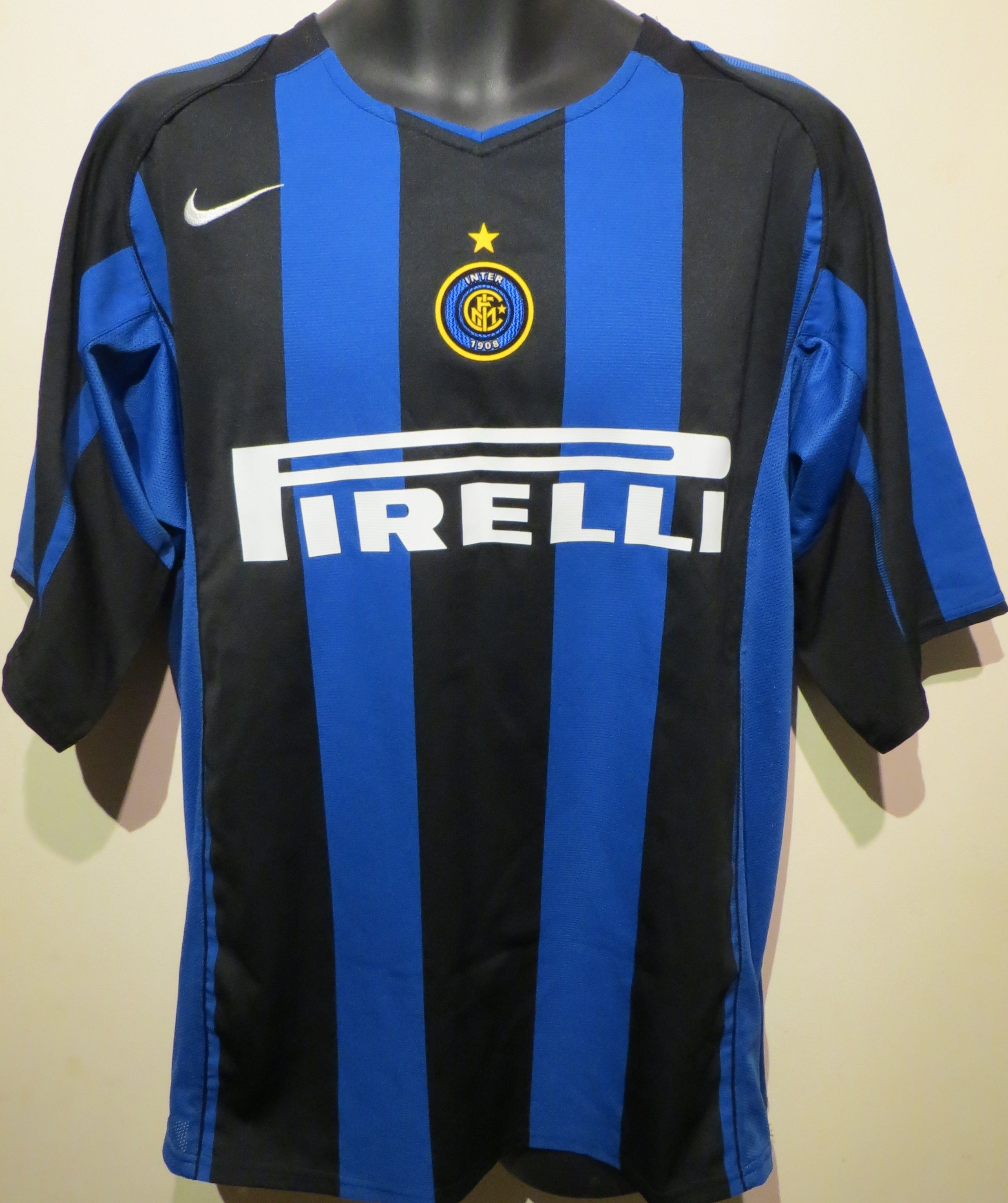 168191a3267 Adriano Inter Milan Shirt by Nike (front). Find this Pin and more on Retro  Football ...