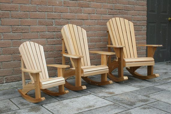 Sedute Da Giardino Dwg : Youth size adirondack rocking chair plans dwg files for cnc