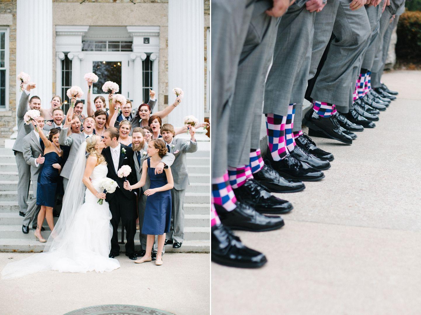 Scott Ashley Houdini Museum Blush Pink Navy Blue Light Grey Wedding
