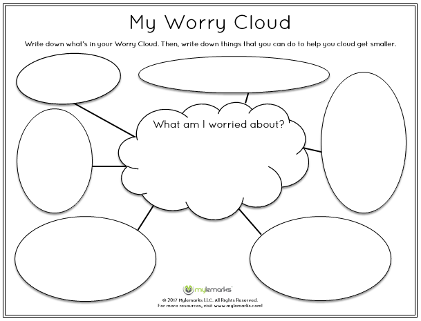 Help children identify their worries with this worksheet