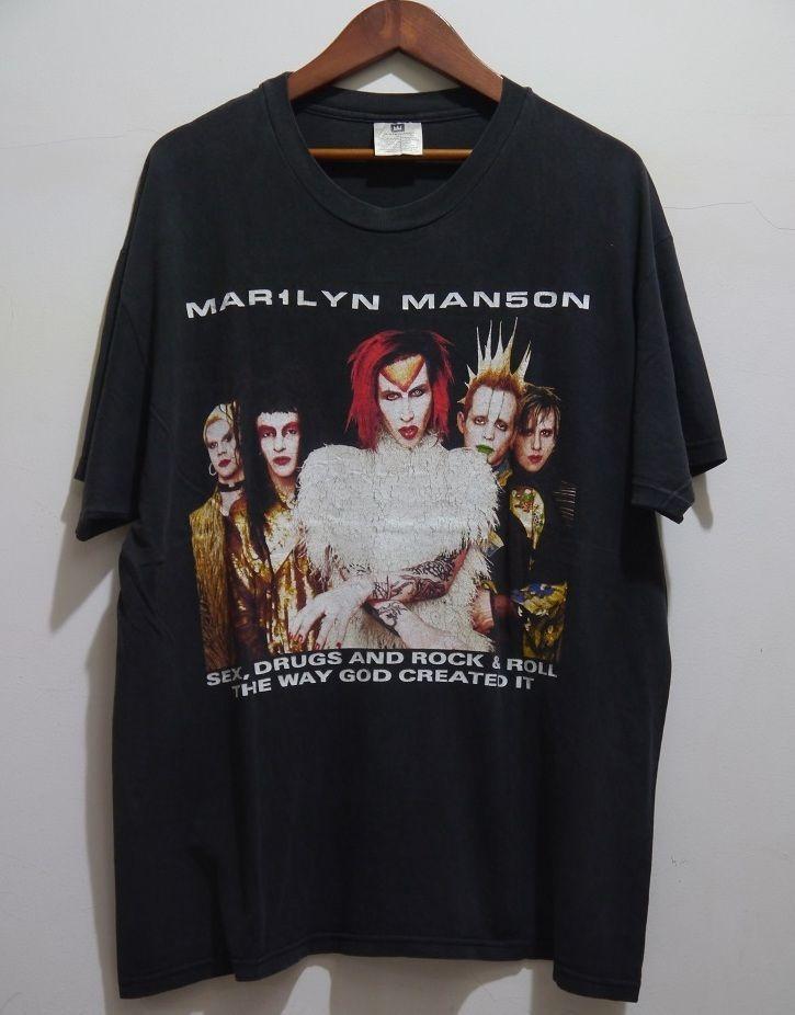 9aa874136f35 vintage 90s MARILYN MANSON ROCK IS DEAD Tour Concert t-shirt XL #Winterland  #GraphicTee