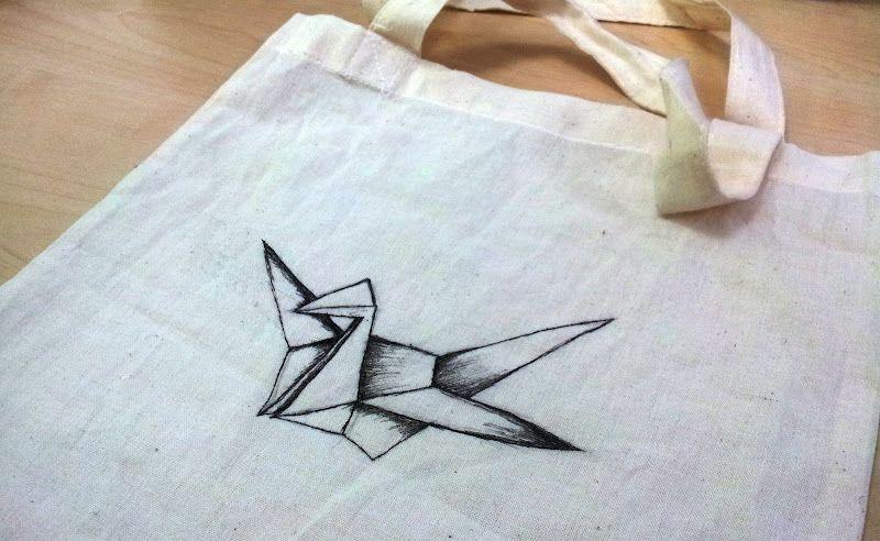 Jessica.: [Art n Craft] crane tote bag