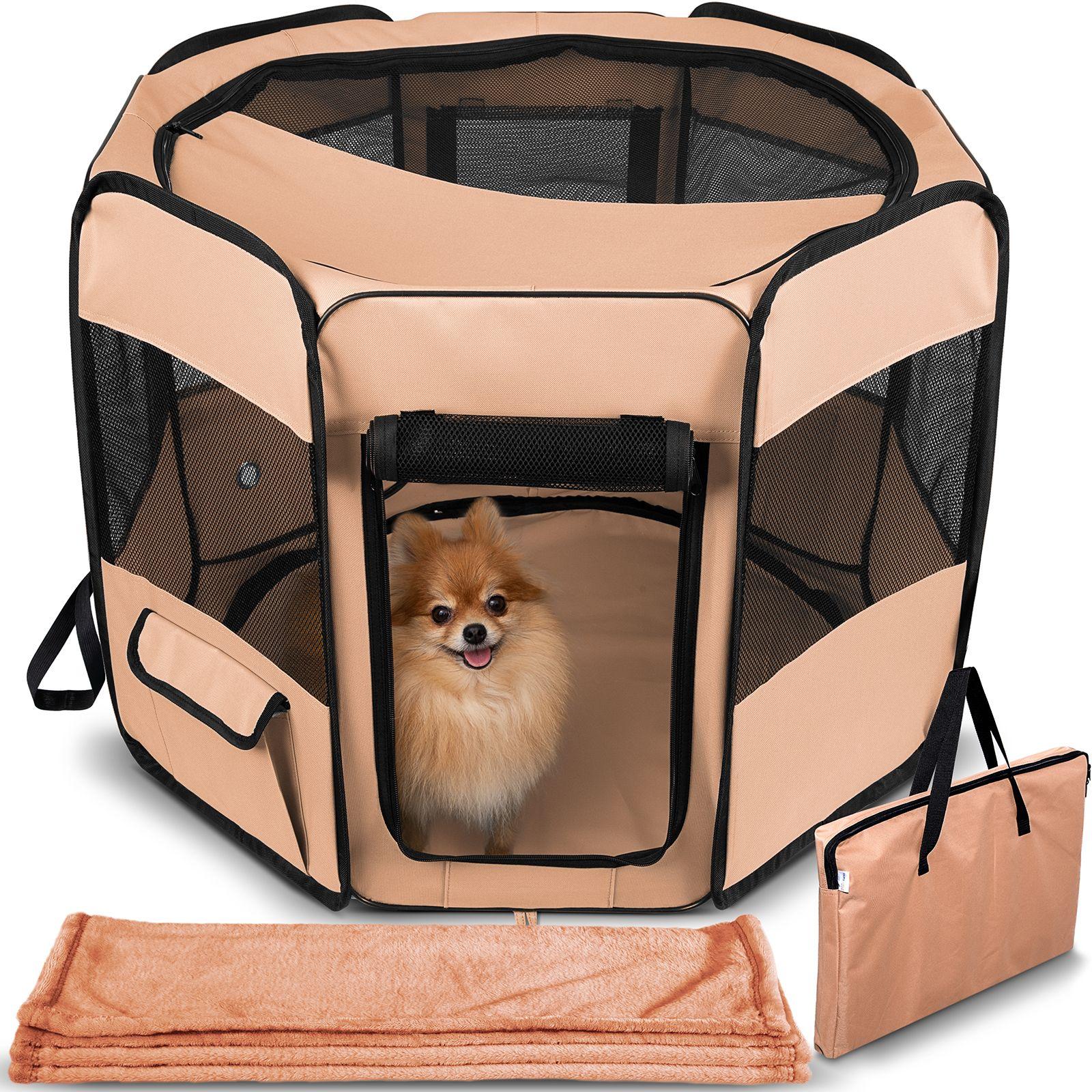Paws pals dog playpen softsided mesh portable foldable