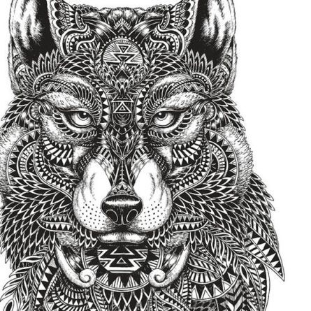 Adult Coloring Pages: Mayan Wolf http://www ...