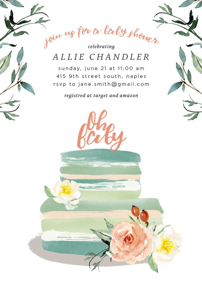 Next Stop: Parenthood Non-Foil-Pressed Baby Shower Invitation Challenge ,