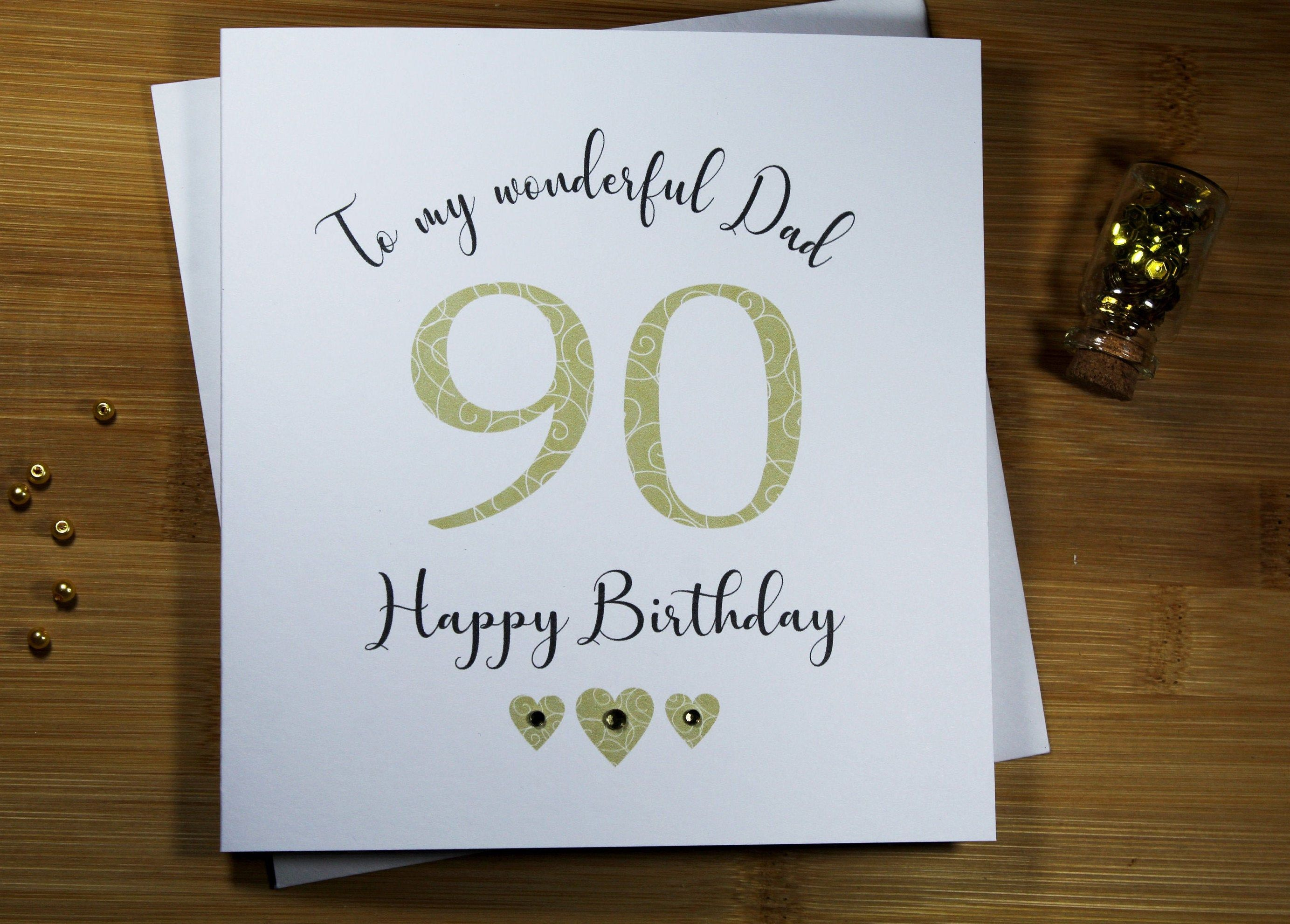 Card /& Envelope 90th Birthday Best Grandad Ever