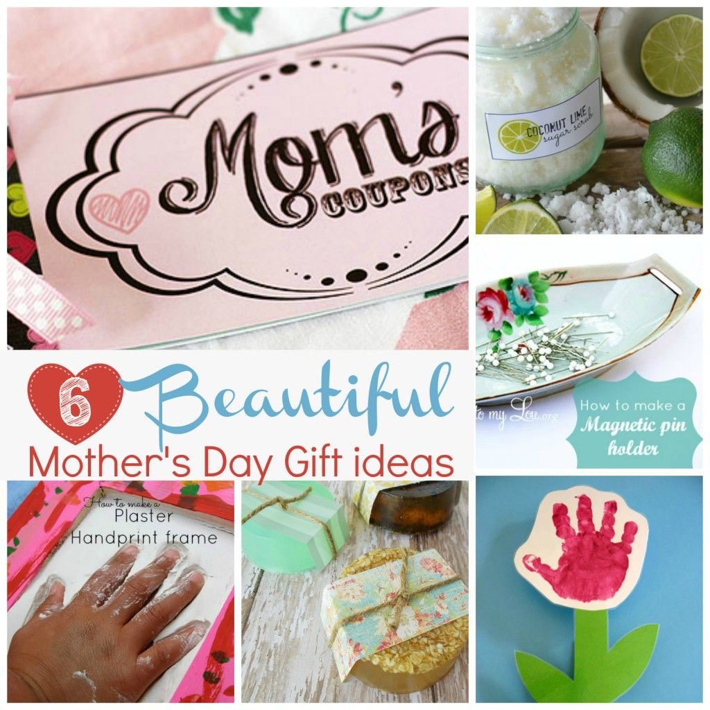 Six Beautiful Mother S Day Gift Ideas From To My Lou Mom Will Enjoy All These Heartfelt Gifts Like Personalized Coupons Handprint Frames