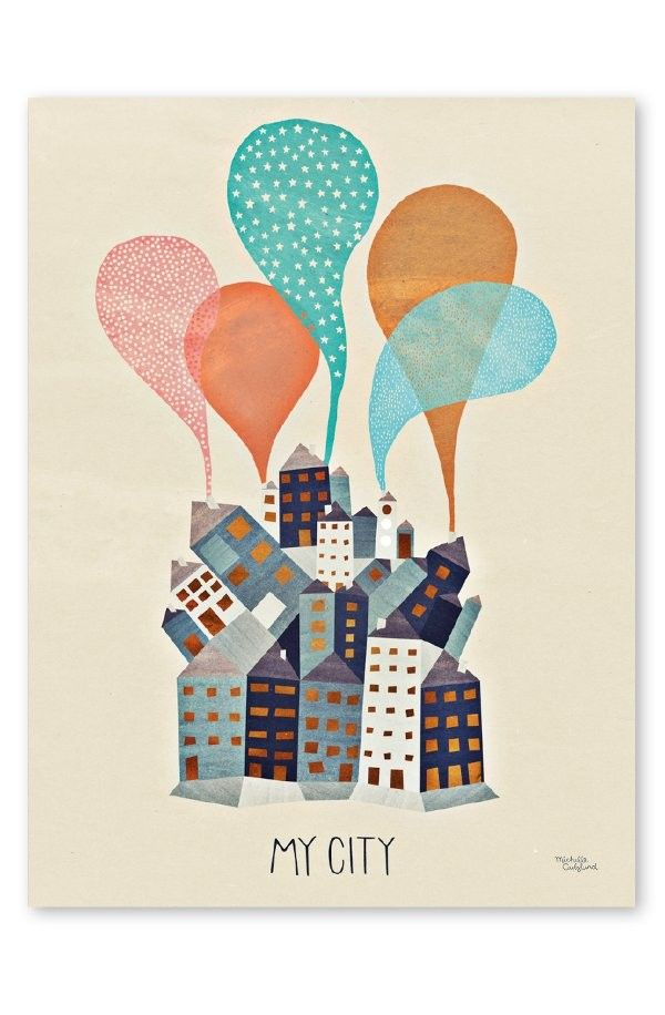 Michelle Carlslund Poster My City 50x70 Cm Plakater Bogkunst Billeder