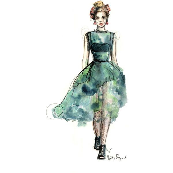 Illustrative interpretations of Dolce & Gabbana's SS12 Collection:... ❤ liked on Polyvore featuring sketches, drawings, people, backgrounds and art
