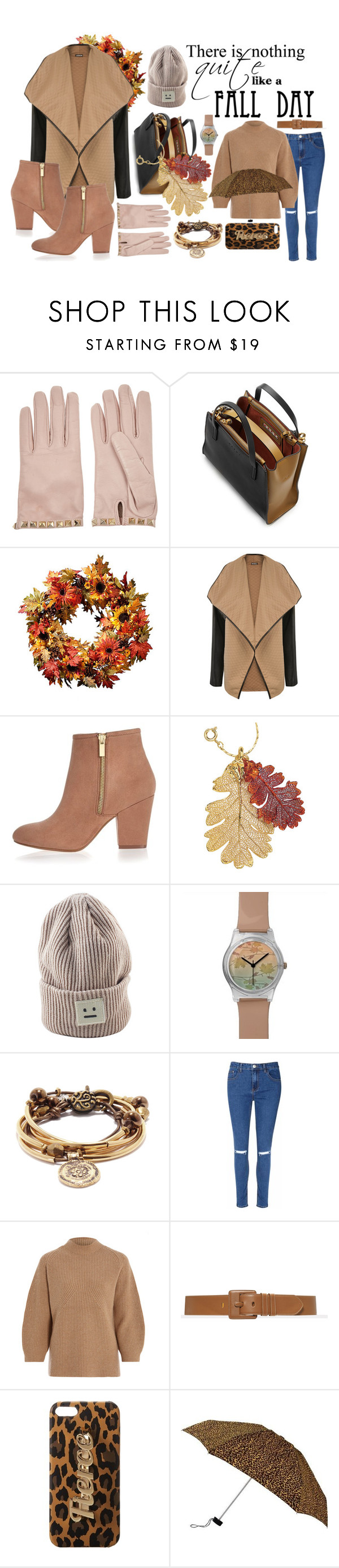 """""""Missing those autumn days.   #fall #autumn"""" by vvoskolup ❤ liked on Polyvore featuring Valentino, Marni, WearAll, River Island, Natures Jewelry, Glamorous, 3.1 Phillip Lim, Steve Madden, Leighton and women's clothing"""