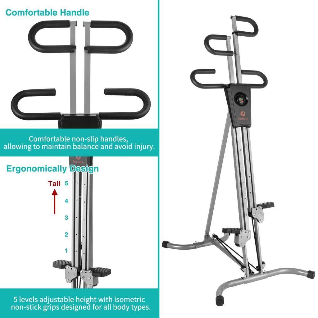 Fitnessclub Vertical Climber Machine Exercise Stepper W//Resistance Equipment