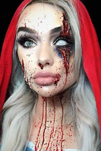 16 Exciting Scary Halloween Makeup Ideas fancy dress ideas - terrifying halloween costume ideas