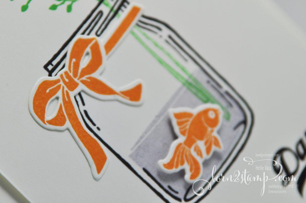 born2stamp STAMPIN' UP! IN{K}SPIRE_me Dankeskarte - Glasklare Grüsse - Everyday jars framelits