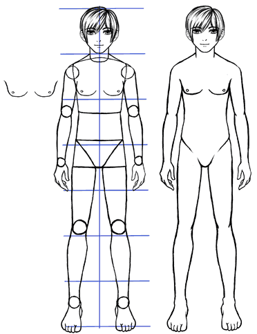 How To Draw Anime Guys Body Proportions Manga Tuts Anime Guys Anime Guys Shirtless Anime Guy Blue Hair