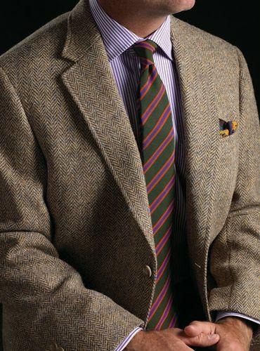 Dusty Blue and Beige Herringbone Harris Tweed Sport Coat | Fall ...