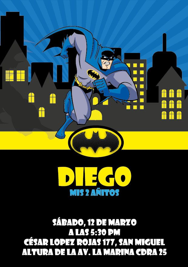 Invitaciones Batman! | Batman Birthday Party | Pinterest | Batman ...