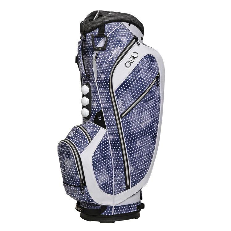 Ogio Ss Womens Golf Bag Navy Polka Dot White Cool