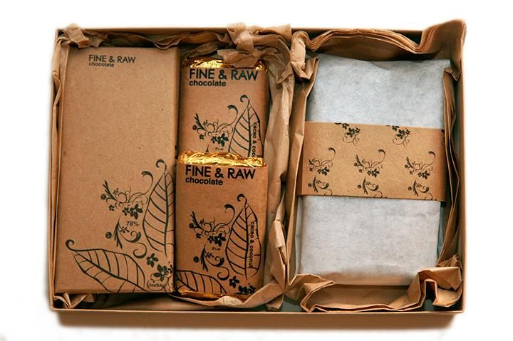 Fine & Raw's bonbon deluxe gift box. (Wonderful hostess gift!)