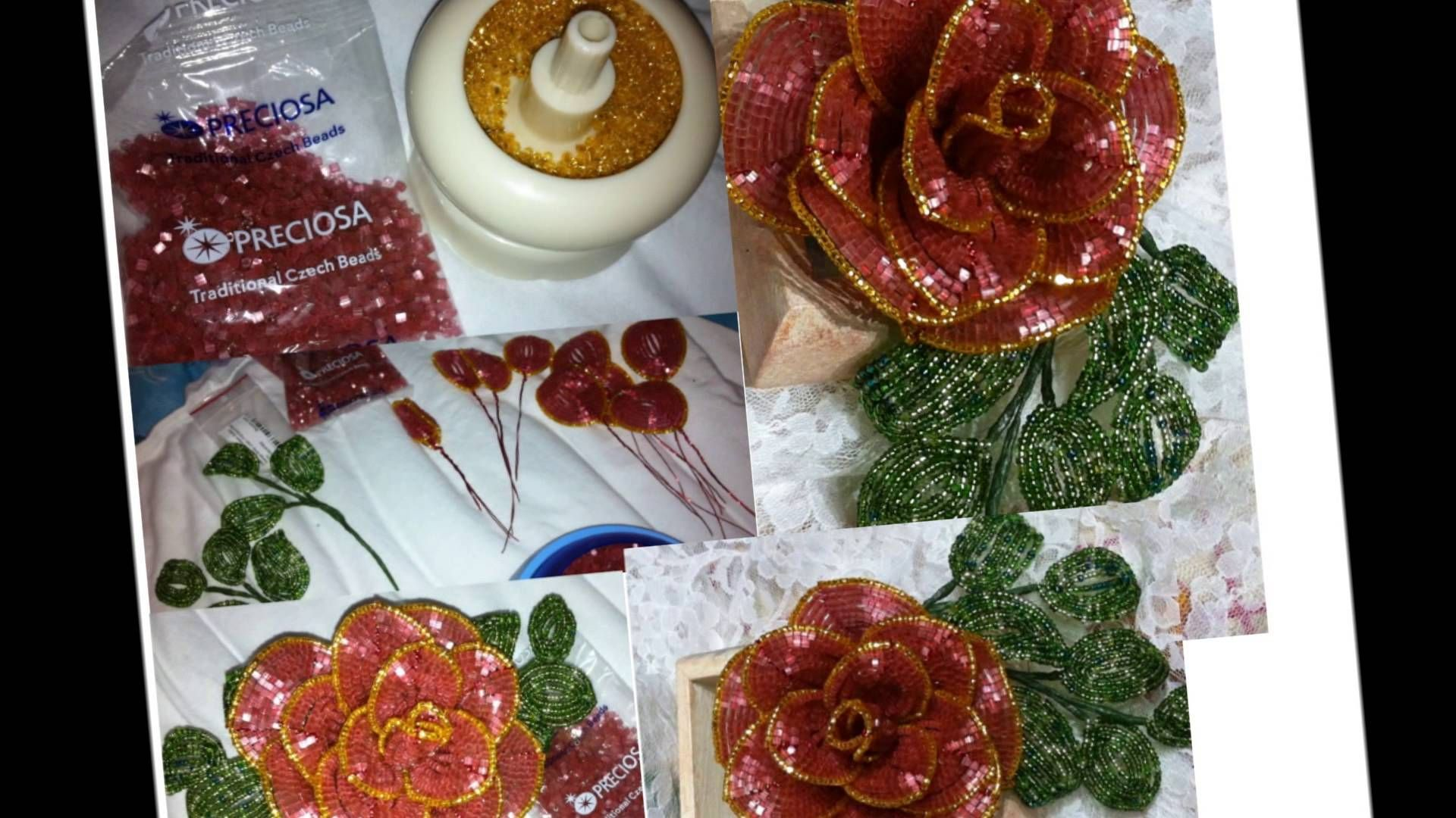 Fiori di perline - La rosa - Beaded Roses